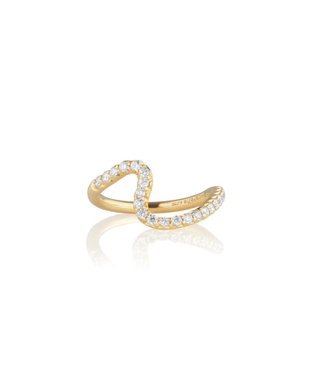 Brushstroke No. 7 Ring with Diamonds