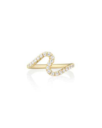 Brushstroke No. 6 Ring with Diamonds