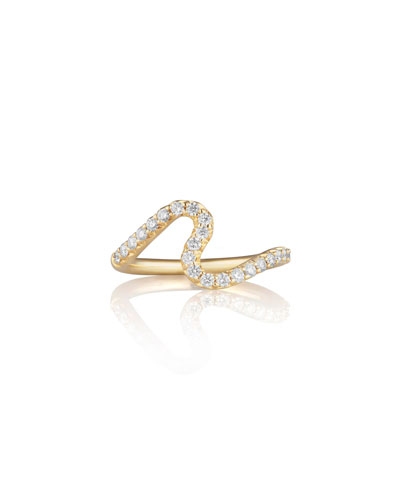 Brushstroke No. 5 Ring with Diamonds
