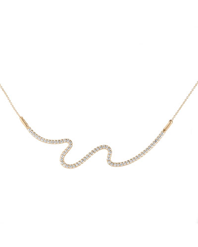 Brushstroke No. 62 Necklace with Diamonds