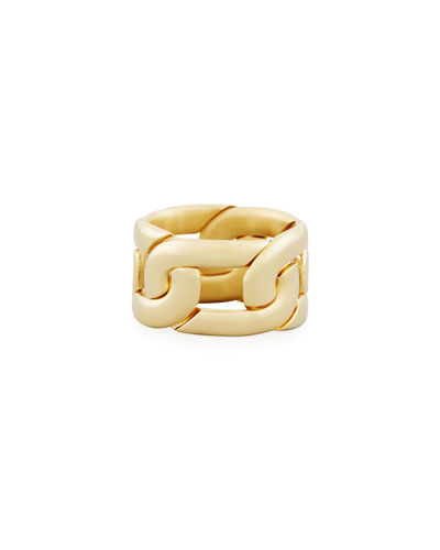 Tango Link Ring in 18K Gold, Size 55