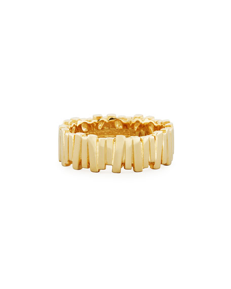 Medium Vertical Bar Ring in 18K Gold