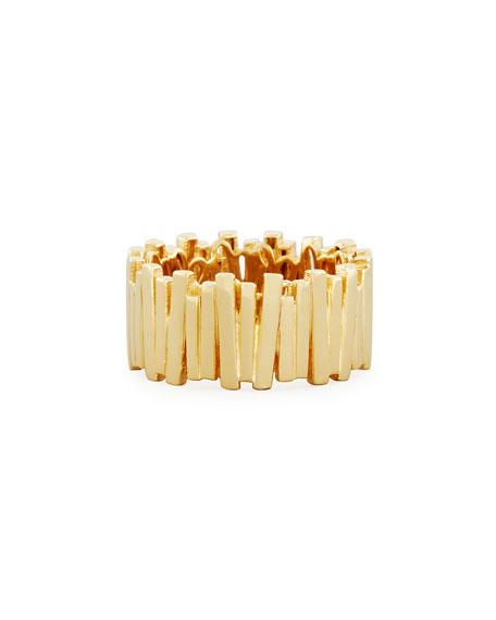 Vertical Bar Ring in 18K Gold