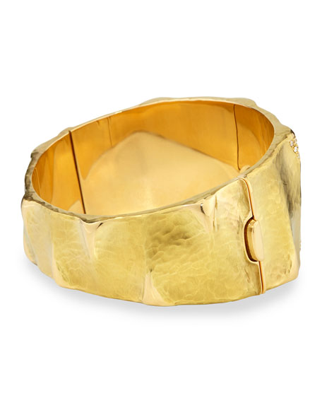 Dune 18k Gold and Diamond Cuff Bracelet