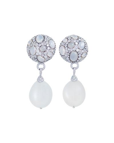 Carnivale Moonstone & Diamond Drop Earrings