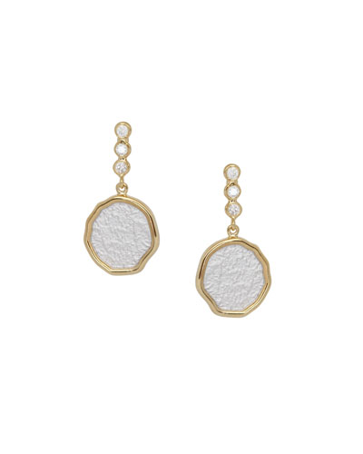 Serenity Short Drop Earrings with Diamonds