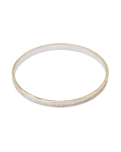 Serenity Sterling Silver Round Bangle
