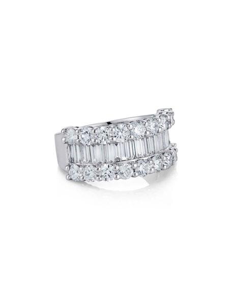 Baguette Diamond Line Ring, Size 6.5