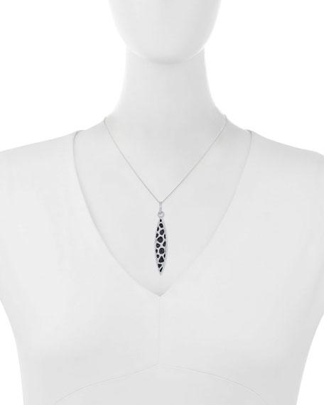 Black & White Diamond Marquis Pendant Necklace