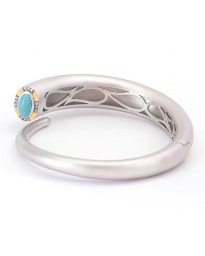 Vitality Cuff Bracelet with Turquoise & Diamonds