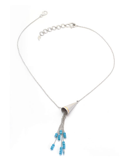 Vitality Beaded Turquoise Cone Necklace