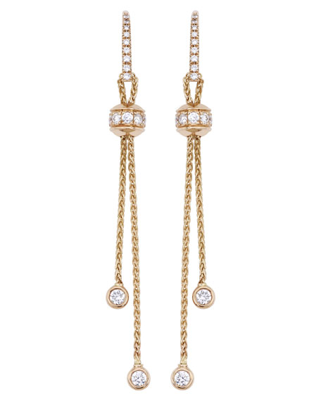 Possession 18K Red Gold Drop Earrings with Diamonds