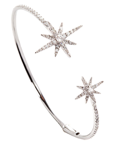 Starburst Bangle in 18K White Gold with Diamonds