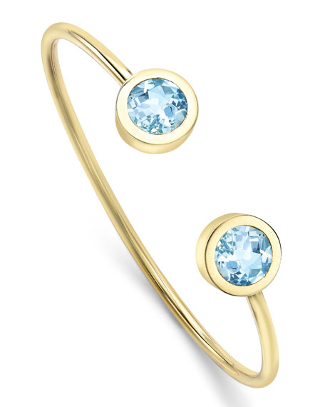 Eternal Bangle Bracelet with Blue Topaz