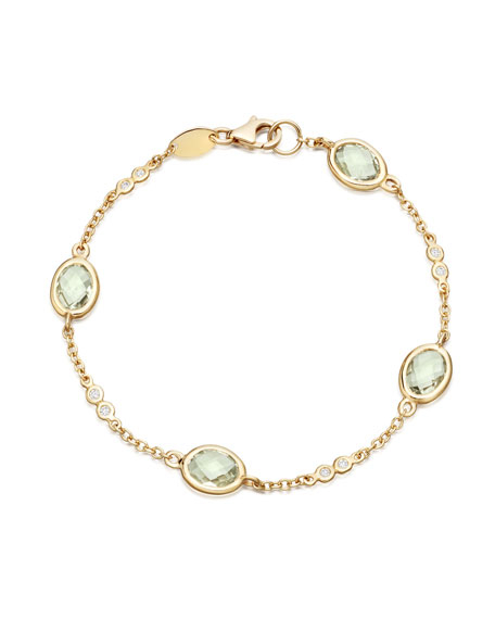 Eternal Green Amethyst Bracelet with Diamonds