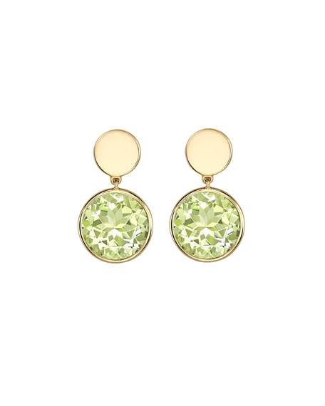 Eternal Green Amethyst Drop Earrings