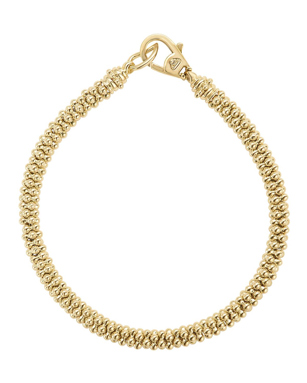 Lagos Medium 4mm Caviar Rope Bracelet mAvzsaE