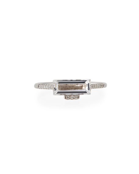 KALAN by Suzanne Kalan East-West White Topaz Baguette