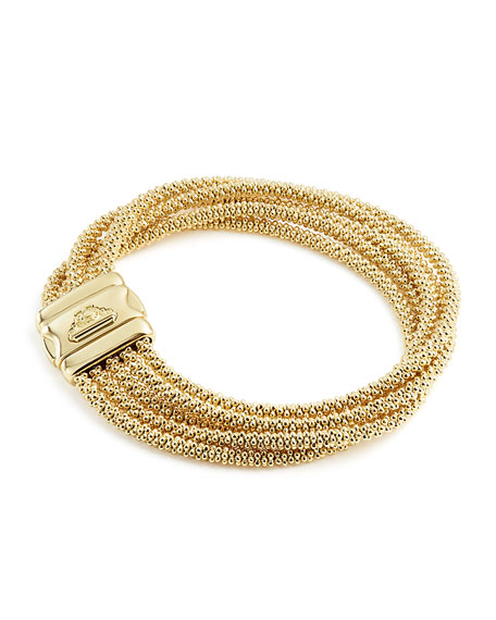 Lagos 3mm Medium 18K Gold Caviar Rope Bracelet m1DYPbJ