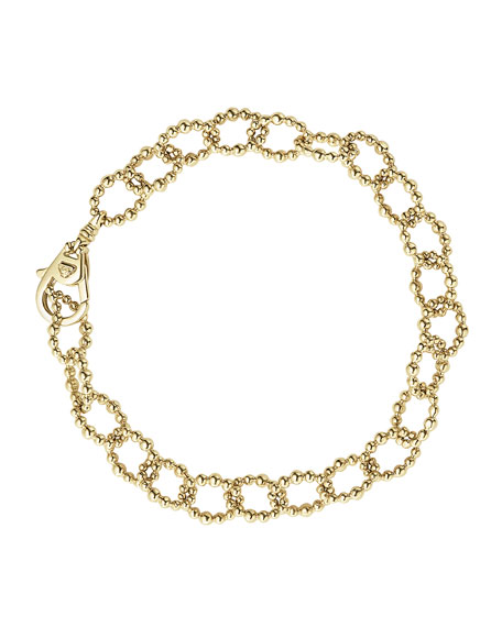 Medium 18K Gold Caviar Fluted Link Bracelet