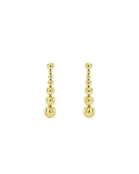 Lagos 18K Gold Caviar Graduated Ball Drop Earrings n9iGb