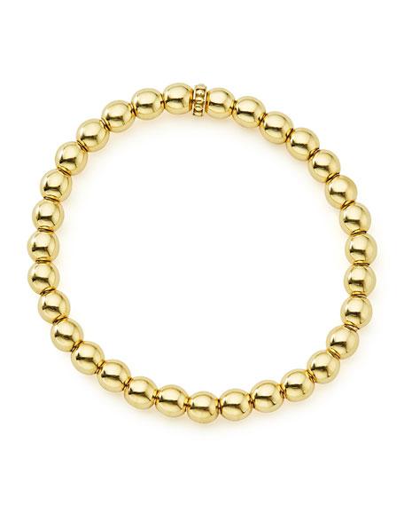 Medium 6mm Caviar Ball Stretch Bracelet