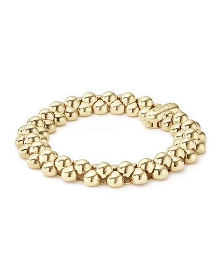 18K Gold Bold Caviar Link Bracelet