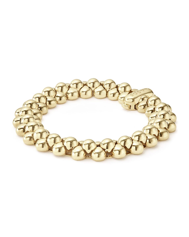 Lagos 18K Gold Bold Caviar Link Bracelet Zp6UHCUp3