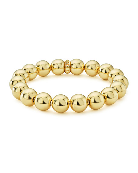 Medium 11.7mm Caviar Ball Stretch Bracelet