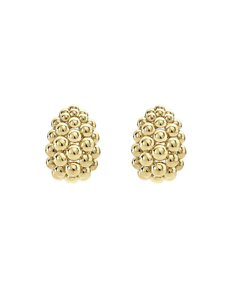 Bold Caviar Large 18K Gold Huggie Earrings