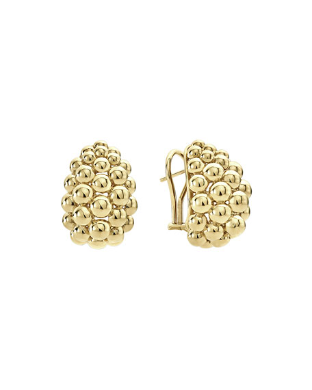 Bold Caviar Large 18K Gold Huggie Earrings