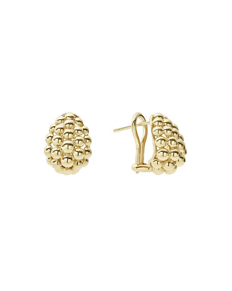 Bold Caviar Medium 18K Gold Huggie Earrings