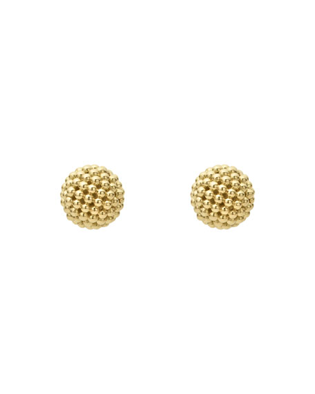 Caviar Lattice Ball Stud Earrings