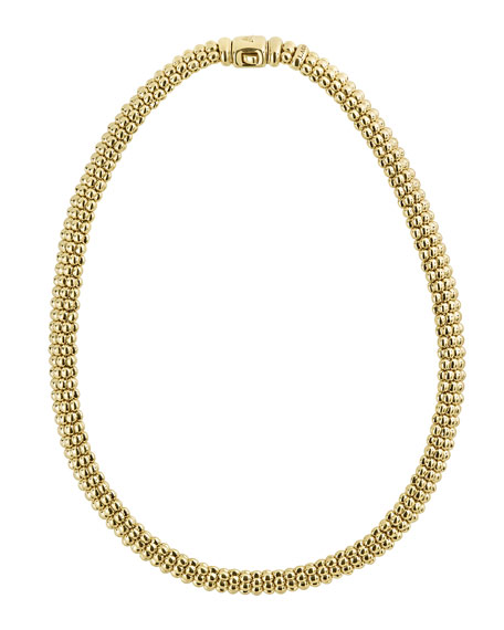 "9mm Caviar Rope Necklace, 16""L"