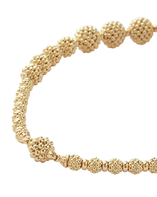 Lagos Graduated Caviar Lattice Ball Necklace 1UZpFx