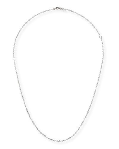 Rose-Cut & Pavé Diamond Link Necklace
