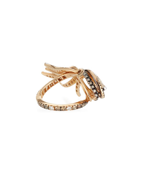 Marquis Diamond Wing Ring in 18K Rose Gold