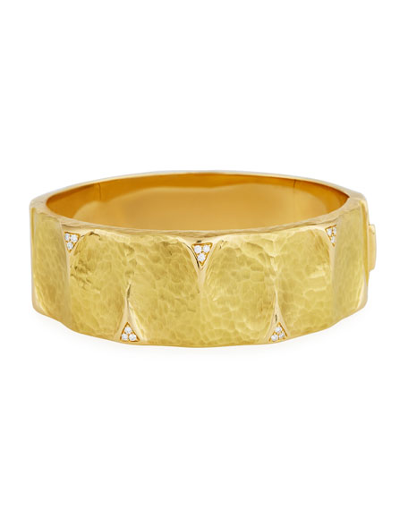 Dune Medium Bangle Bracelet with Diamonds