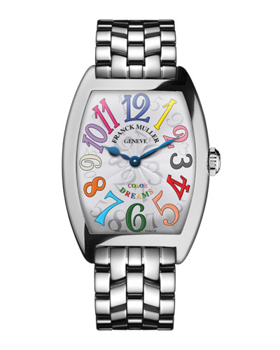 Cintree Curvex Bracelet Watch with Multicolor Hour Markers