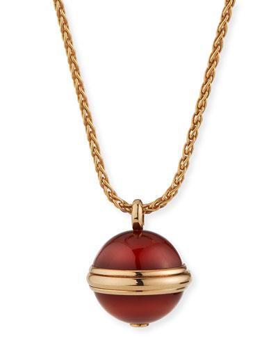 Possession Carnelian Cabochon Pendant Necklace