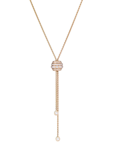 Possession 18K Red Gold Lariat Necklace with Diamonds