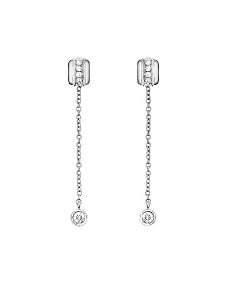 Possession Night & Day Earrings with Diamonds in 18K White Gold