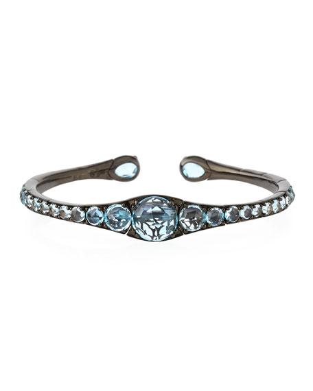 Blue Topaz Bracelet in 18K White Gold