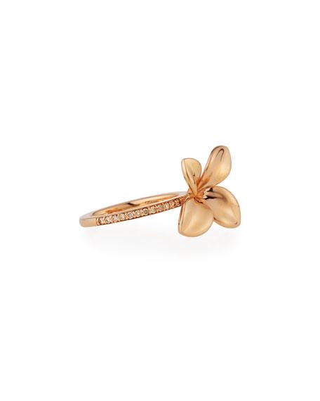 Giardini Segreti Floral Ring with Diamonds