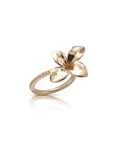 Giardini Segreti Floral Ring with Diamonds