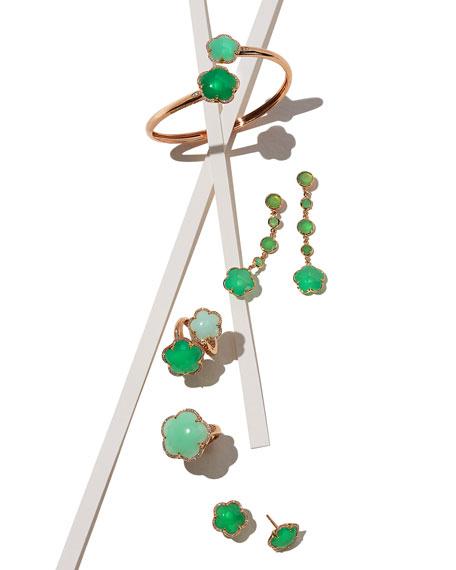 Bon Ton Green Chrysoprase Flower Bracelet with Diamonds in 18K Rose Gold
