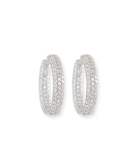 25mm Pavé Diamond Hoop Earrings