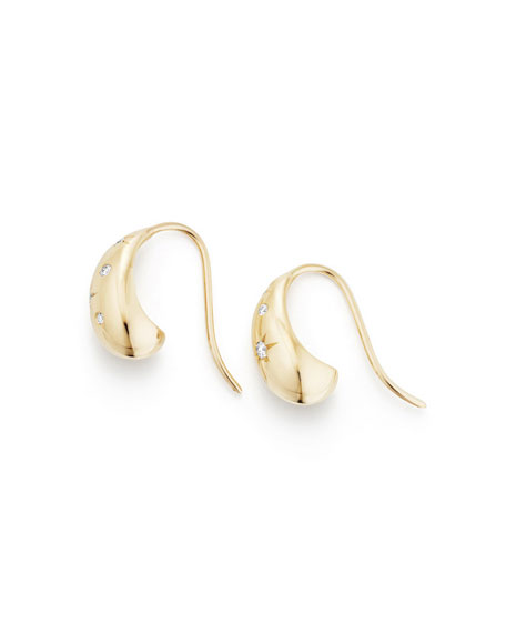 15mm Pure Form Hoop Earrings with Diamonds