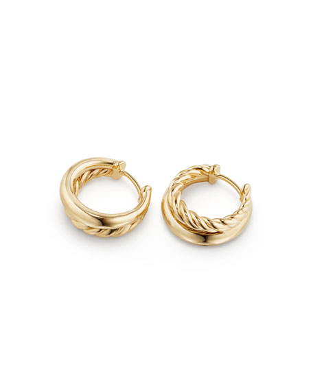 25.5mm Pure Form 18K Gold Hoop Earrings
