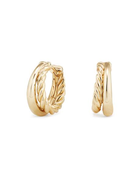 25.5mm Pure Form 18K Gold Hoop Earrings